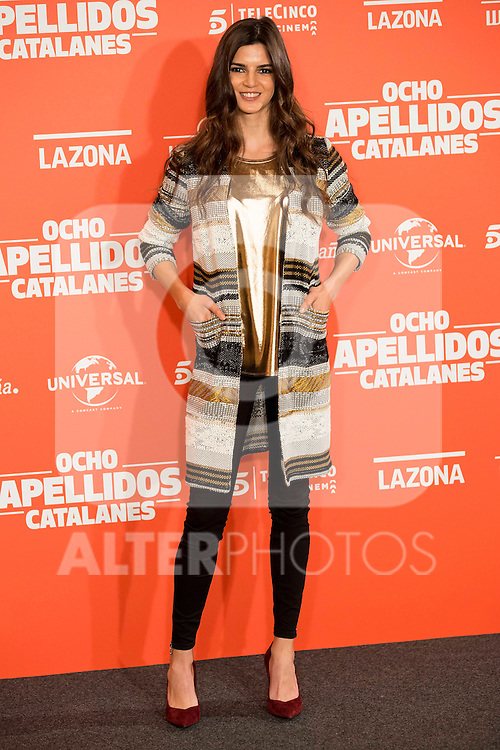 "Spanish actress Clara Lago during the presentation of the film ""Ocho Apellidos Catalanes"" in Madrid, November 17, 2015.<br /> (ALTERPHOTOS/BorjaB.Hojas)"