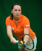 29-1-09, Almere, Training Fedcup team, Nicolle Thyssen