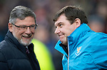Hearts v St Johnstone…26.01.19…   Tynecastle    SPFL<br />Tommy Wright and Craig Levein before kick off<br />Picture by Graeme Hart. <br />Copyright Perthshire Picture Agency<br />Tel: 01738 623350  Mobile: 07990 594431