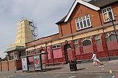 New Hindu temple nears completion in Ilford, in the London Borough of Newham, next to the disused pub which has served temporarily as the local Sri Lankan community's place of worship.