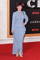 """Victoria Hamilton<br /> at the World Premiere of the Netflix series """"The Crown"""" at the Odeon Leicester Square, London.<br /> <br /> <br /> ©Ash Knotek  D3192  01/11/2016"""