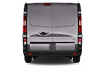 Straight Rear View of 2015 Opel Vivaro Edition 4 Door Cargo Van 2WD Stock Photo