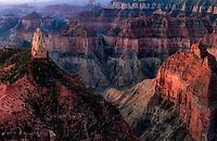 Sunrise at Point Imperial. North rim Grand Canyon National Park, Arizona