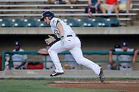 Center fielder Matt Lipka (2) of the Lynchburg Hillcats in a game against the Wilmington Blue Rocks on Tuesday, June 25, 2013, at Calvin Falwell Field in Lynchburg, Virginia. Lynchburg won, 3-2. (Tom Priddy/Four Seam Images)