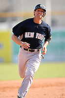 February 25, 2009:  First baseman Justin Leone (74) of the New York Yankees during a Spring Training game at Dunedin Stadium in Dunedin, FL.  The New York Yankees defeated the Toronto Blue Jays 6-1.   Photo by:  Mike Janes/Four Seam Images