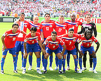 Costa Rica starting eleven. Poland defeated Costa Rica 2-1 in their FIFA World Cup Group A match at FIFA World Cup Stadium, Hanover, Germany, June 20, 2006.