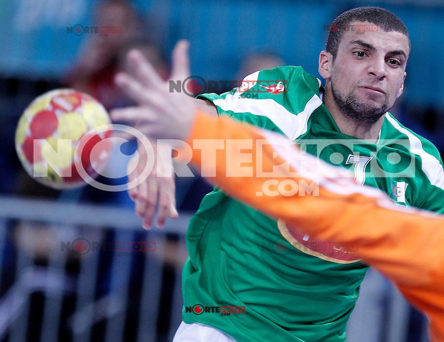 Algeria's Hichem Daoud during 23rd Men's Handball World Championship preliminary round match.January 14,2013. (ALTERPHOTOS/Acero) 7NortePhoto