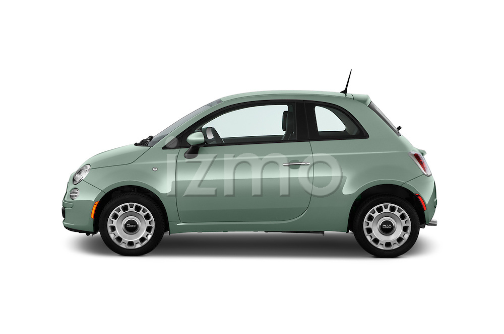 Car Driver side profile view of a 2017 Fiat 500 Pop 3 Door Hatchback Side View
