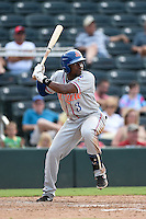 St. Lucie Mets designated hitter Maikis De La Cruz (3) at bat during a game against the Fort Myers Miracle on April 19, 2015 at Hammond Stadium in Fort Myers, Florida.  Fort Myers defeated St. Lucie 3-2 in eleven innings.  (Mike Janes/Four Seam Images)