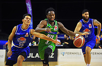Manawatu's Daishon Knight in action during the National Basketball League match between the Wellington Saints and Manawatu Jets at TSB Bank Arena in Wellington, New Zealand on Sunday, 13 June 2021. Photo: Dave Lintott / lintottphoto.co.nz