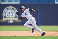 GCL Yankees West center fielder Evan Alexander (7) runs the bases during the second game of a doubleheader against the GCL Yankees East on July 19, 2017 at the Yankees Minor League Complex in Tampa, Florida.  GCL Yankees West defeated the GCL Yankees East 3-1.  (Mike Janes/Four Seam Images)