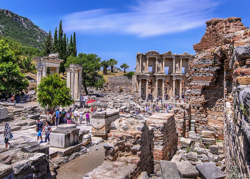 Travel Print Photograph of the ancient ruins of Ephesus in Kusadasi, Turkey.