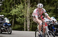 Dorian Godon (FRA/AG2R Citroën) up the Col de Joux Plane (HC/1691m/11.6 km@8.5 %)<br /> <br /> 73rd Critérium du Dauphiné 2021 (2.UWT)<br /> Stage 8 (Final) from La Léchère-Les-Bains to Les Gets (147km)<br /> <br /> ©kramon