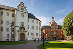 Germany, Baden-Wuerttemberg, Tauber Valley, Bad Mergentheim: Deutschorden Castle and courtyard | Deutschland, Baden-Wuerttemberg, Taubertal, Bad Mergentheim: Deutschordenschloss und der Schlosshof