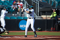 Scott McKeon (10) of the Coastal Carolina Chanticleers at bat against the Illinois Fighting Illini at Springs Brooks Stadium on February 22, 2020 in Conway, South Carolina. The Fighting Illini defeated the Chanticleers 5-2. (Brian Westerholt/Four Seam Images)