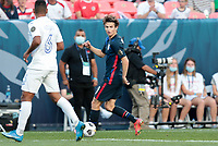 DENVER, CO - JUNE 3: Brenden Aaronson #11 of the United States moves with the ball during a game between Honduras and USMNT at EMPOWER FIELD AT MILE HIGH on June 3, 2021 in Denver, Colorado.