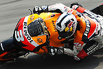 KUALA LUMPUR, MALAYSIA - OCTOBER 24: Dani Pedrosa of Spain rides the #3 Repsol Honda Team Honda during free practice for the Malaysian MotoGP, which is round 16 of the MotoGP World Championship at the Sepang Circuit on October 24, 2009 in Kuala Lumpur, Malaysia.  Photo by Victor Fraile / The Power of Sport Images
