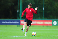 Ben Davies of Wales during the Wales Training Session at The Vale Resort in Cardiff, Wales, UK. Monday 07 October 2019