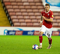 21st November 2020, Oakwell Stadium, Barnsley, Yorkshire, England; English Football League Championship Football, Barnsley FC versus Nottingham Forest; Michael Sollbauer of Barnsley  on the ball