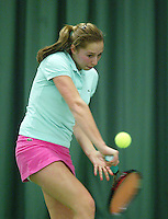 10-3-06, Netherlands, tennis, Rotterdam, National indoor junior tennis championchips, Steffie Weterings