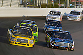 #98: Grant Enfinger, ThorSport Racing, Ford F-150 and #46: Christian Eckes, Kyle Busch Motorsports, Toyota Tundra Mobil 1
