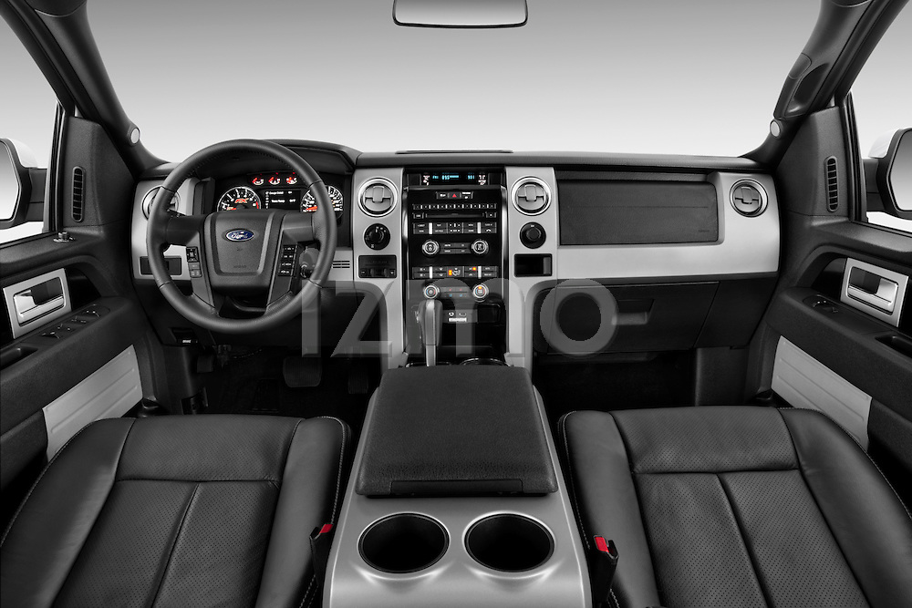 Ford FX4 F150 2013 Crew Cab Dashboard View Stock Photo