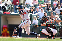 April 17th, 2008:  Infielder Wes Timmons (40) of the Richmond Braves, Class-AAA affiliate of the Atlanta Braves, at bat during a game at Frontier Field in Rochester, NY.  Photo by:  Mike Janes/Four Seam Images