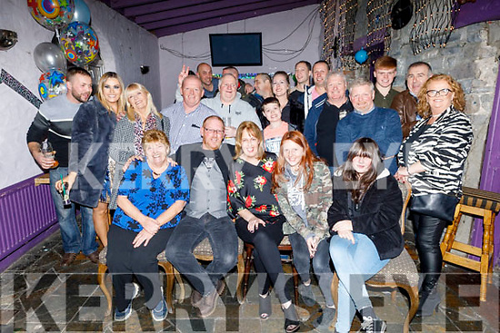 Michael Faggetter from Tralee celebrating his 40th birthday in the Greyhound Bar on Saturday<br /> Seated l to r: Diane and Michael Faggetter, Mary Quill, Tara and Evie Faggetter.