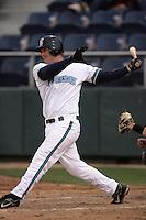 July 6 2009: Blake Trinkler of the Everett AquaSox bats against the Yakima Bears at Everett Memorial Stadium in Everett,WA.  Photo by Larry Goren/Four Seam Images
