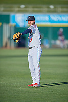 Wyatt Mathisen (21) of the Reno Aces before the game against the Nashville Sounds at Greater Nevada Field on June 5, 2019 in Reno, Nevada. The Aces defeated the Sounds 3-2. (Stephen Smith/Four Seam Images)