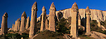 """Locally referred to as """"The Valley of Love"""", this canyon is filled with hundreds of tufa columns, Cappadocia, Turkey"""
