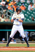 Montgomery Biscuits outfielder Mikie Mahtook #8 during a game against the Mobile BayBears on April 16, 2013 at Riverwalk Stadium in Montgomery, Alabama.  Montgomery defeated Mobile 9-3.  (Mike Janes/Four Seam Images)