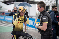 Primoz Roglic (SVK/Jumbo-Visma) at the morning iTTcourse recon<br /> <br /> preparations for Stage 9 (ITT): Riccione to San Marino (34.7km)<br /> 102nd Giro d'Italia 2019<br /> <br /> ©kramon