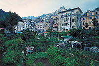 Homes of artisians and miners. Carrera, Italy Europe.