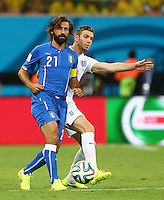 Andrea Pirlo of Italy and Jordan Henderson of England in action