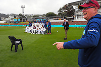 The West Indies team pose for a team photo during day four of the second International Test Cricket match between the New Zealand Black Caps and West Indies at the Basin Reserve in Wellington, New Zealand on Monday, 14 December 2020. Photo: Dave Lintott / lintottphoto.co.nz