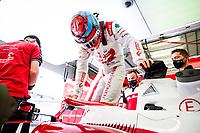 26th March 2021; Sakhir, Bahrain; F1 Grand Prix of Bahrain, Free Practice sessions;  RAIKKONEN Kimi (fin), Alfa Romeo Racing ORLEN C41 garage during Formula 1 Gulf Air Bahrain Grand Prix 2021