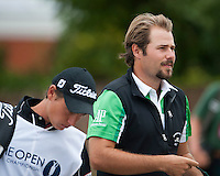 20.07.2014. Hoylake, England. The Open Golf Championship, Final Round.  Victor DUBUISSON [FRA] with a good start to his final round