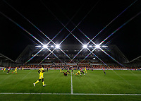 1st October 2020; Brentford Community Stadium, London, England; English Football League Cup, Carabao Cup Football, Brentford FC versus Fulham; General view of inside Brentford Community Stadium during the 2nd half as Brentford Community Stadium host an evening match for the first time