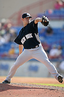 February 25, 2009:  Pitcher David Robertson (30) of the New York Yankees during a Spring Training game at Dunedin Stadium in Dunedin, FL.  The New York Yankees defeated the Toronto Blue Jays 6-1.   Photo by:  Mike Janes/Four Seam Images