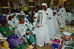 """Celestial Church of Christ London. harvest festival. 1990 England. This west African church was founded by S B J Oshoffa Mainly attended by Yoruba people from western Nigeria the church  flourishes with offshoots in London Paris and New York This  photograph is taken from the book The Storm is Passing Over"""""""