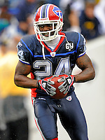 7 September 2008:  Buffalo Bills' cornerback Terrence McGee warms up prior to a game against the Seattle Seahawks at Ralph Wilson Stadium in Orchard Park, NY. The Bills defeated the Seahawks 34-10 in the season opening game...Mandatory Photo Credit: Ed Wolfstein Photo