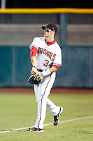 Bryce Harper - Scottsdale Scorpions - 2010 Arizona Fall League. Harper, the 2010 1st overall draft pick, is preparing for his first professional game against the Mesa Solar Sox at Scottsdale Stadium - 10/20/2010.Photo by:  Bill Mitchell/Four Seam Images..