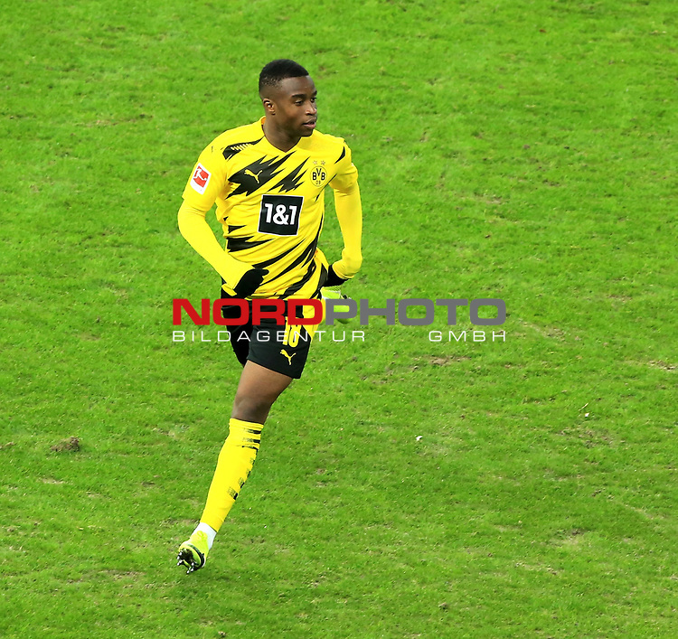 21.11.2020, OLympiastadion, Berlin, GER, DFL, 1.FBL, Hertha BSC VS. Borussia Dortmund, <br /> DFL  regulations prohibit any use of photographs as image sequences and/or quasi-video<br /> im Bild Youssoufs Moukoko (Borussia Dortmund #18)<br /> <br />       <br /> Foto © nordphoto / Engler