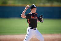 Jared Sundstrom (11) of Point Arena High School in Gualala, California during the Baseball Factory All-America Pre-Season Tournament, powered by Under Armour, on January 13, 2018 at Sloan Park Complex in Mesa, Arizona.  (Mike Janes/Four Seam Images)