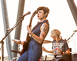 Raleigh, North Carolina- August 11, 2017<br /> <br /> Betsy Wright of Ex Hex. <br /> <br /> Ex Hex and Waxahatchee played an outdoor concert with MERGE Records label mates Superchunk at the North Carolina Museum of Art. (Photo by Jeremy M. Lange for The New York Times)