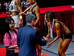 Winners of the South China Women's Fitness Physique category during the 2016 Hong Kong Bodybuilding Championships on 12 June 2016 at Queen Elizabeth Stadium, Hong Kong, China. Photo by Lucas Schifres / Power Sport Images