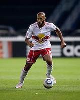 Thierry Henry (14) of the New York Red Bulls brings the ball upfield during the game at RFK Stadium in Washington, DC.  D.C. United lost to the New York Red Bulls, 4-0.