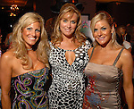 Rebecca Celauro, Tonya Crews and Tricia Rentz at the Casino Night for The Health Museum at the Hotel ZaZa Saturday  Aug. 23,2008.(Dave Rossman/For the Chronicle)