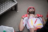 Luis Ángel Maté (ESP/Cofidis) gave it his all up the Mur de Huy<br /> <br /> 83rd La Flèche Wallonne 2019 (1.UWT)<br /> One day race from Ans to Mur de Huy (BEL/195km)<br /> <br /> ©kramon